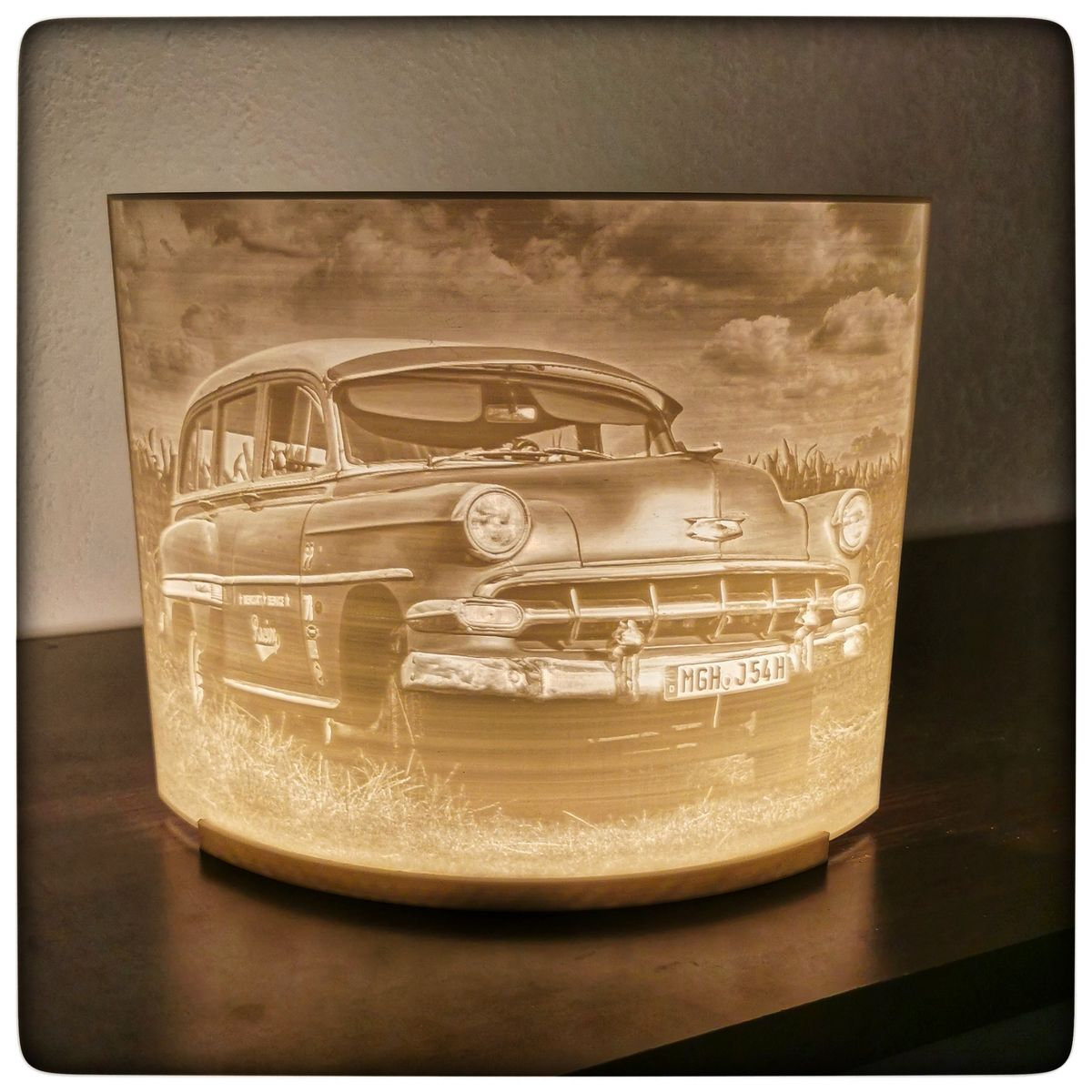 Chevy Lithophane